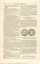 Agrafe du Manteau Royal Portée par Saint-Louis IX à son Mariage BNF GRAVURE 1842