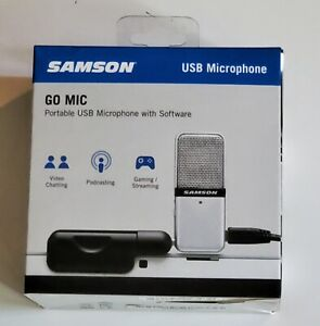 Samson Go Mic Portable USB Condenser Microphone W/ Software  NWT