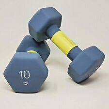 10lb All In Motion AIM Barbell Neoprene Coated Dumbbell Weights (Pair)
