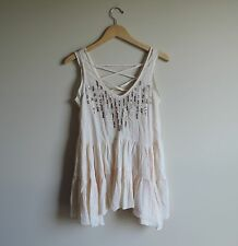 Women's New Free People Sequin Light Pink Tunic Shirt Size Small NWT