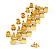 Schaller Gold 6 Inline M6 Mini Sealed Tuners Strat/Tele® Guitar TK-0960-002
