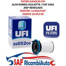 26.052.00 UFI FILTRO GASOLIO FIAT 500X TIPO JEEP RENEGADE ALFA ROMEO GIULIETTA