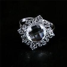 12x Silver Napkin Ring Serviette Holder Wedding Banquet Dinner Table Decor AU~、