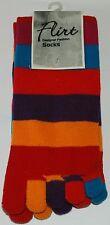 Ladies Girls Color striped five finger Funky Toe Socks  Size 3-7 UK  C032.I