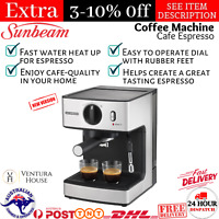 Sunbeam Espresso Coffee Machine Frother Maker 15 Bar Pump Cafe Espresso Machine