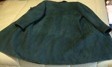 "Cappotto in montone original shearling donna colore verde tg.46 ""Made in Italy"""