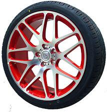 "BK170 VW T5 T6 RED Polished Alloy Wheels New Tyres 20"" Transporter Van kombi"