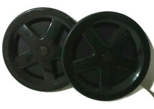 """Bissell Pair of Carpet Cleaner Wheels for ProHeat 2X Turbo Black Diameter 6"""""""