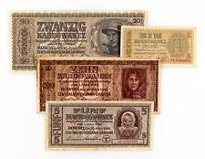 4 diff. Ukraine 1942 1, 5, 10, 20 Karb. Nazi occupation vf-some light staining