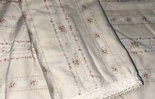 RALPH LAUREN CECILIA VILANDRY Crochet Lace Edge Floral Pair Standard Pillowcases