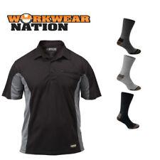 Camisetas de hombre de manga corta color principal negro de poliéster