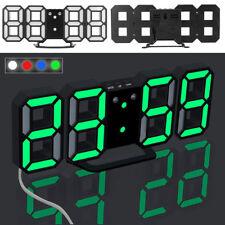 3D LED SVEGLIA OROLOGIO DIGITALE DA TAVOLO MODERNO 12/24 ORE DISPLAY SONNELLINO