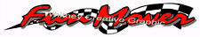 """""""FUN MOVER"""" RV LOGO Graphic Lettering decal 5th Wheel 51"""" X 8"""" Red OR Blue"""