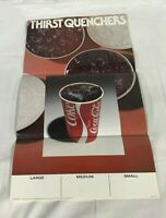 Vintage 80s Original Coca-Cola Ad Campaign Thirst Quenchers 12x22.5 Poster