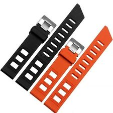 20mm Black Orange Rubber Watch Band Strap+Buckle fit for Omega