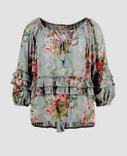 NWT RALPH LAUREN DENIM&SUPPLY WOMENS COTTON FLORAL PEASANT TOP BLOUSE SIZE M