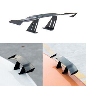 1x Universal Mini Carbon Fiber Spoiler Car Auto Rear Tail Wing Decoration