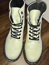 Dr Martens White Glitter Pascal Boots Uk Size 5