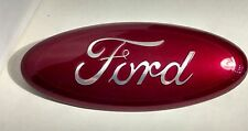 """2004-2015 FORD EDGE,F-150 CUSTOM PAINT EMBLEM,9"""",GRILLE OR TAILGATE, RUBY RED"""