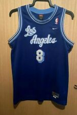 Nike Los Angeles Lakers Kobe Bryant Blue Hollywood Nights Jersey Youth XL MINT 8