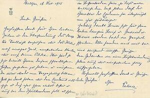 1915 ERZHERZOGIN MARIE VALERIE eigenhändiger  BRIEF mit Unterschrift