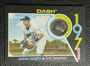 Andrew Vaughn 2020 Topps Heritage Minor League 1971 Mint Nickel 7/99 White Sox