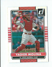 YADIER MOLINA 2015 Donruss Career Home Runs Ser #'d 14/96 St Louis Cardinals