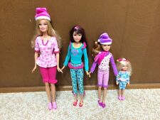 Barbie Sister Skipper Stacie Chelsea A Perfect Christmas Night PJ Dress Doll Lot
