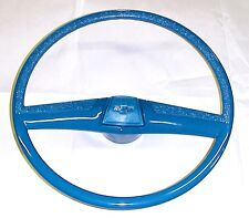 1969 1970 1971 1972 Chevy Truck Medium Blue Steering Wheel w/ Blue Bowtie Horn