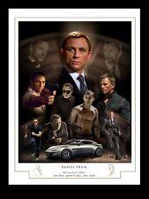007 DANIEL CRAIG MONTAGE PRINT