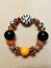 Beaded Stretch Bracelet Lilah Ann Beads Crystal Lampwork Glass Beads