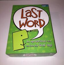 Last Word Game by Buffalo Games - 2008 Edition - 100% Complete!