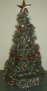 HOLLY JOLLY CHRISTMAS ~ SILVER POP UP DECORATED CHRISTMAS TREE!