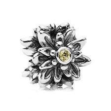 Authentic PANDORA Silver Edelweiss Flower Zirconia Charm - 791176CZY