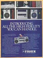 FISHER Hi-Fi Stereo Systems-1982 Vintage Print Ad