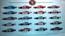 Winston cup 20th year  anniversary winners poster