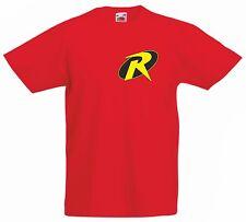 ROBIN Batmans sidekick Kid's red 100% Cotton Fruit of the Loom cartoon T Shirt