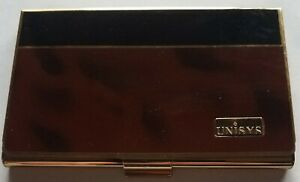 Colibri Unisys Business Card, Credit Card Case - Tortoise Shell Marble Gold