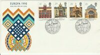 6 MARCH 1990 EUROPA ROYAL MAIL UNADDRESSED FIRST DAY COVER EDINBURGH SHS