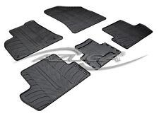 Design Gummimatten für Peugeot 3008/5008 ab 2009 Gummi-Fußmatten mit Clips 5-tlg
