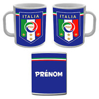 Mug Tasse Italie Football forza Italia avec prénom personnalisé
