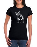 Chihuahua Logo 100% Ringspun Cotton Womens Crew Neck T-shirt