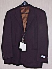 VALENTINO UOMO Brown Wool 3 Button Men's Sport Coat Jacket Blazer Size:54