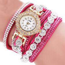 Fashion Women's Stainless Steel Bling Rhinestone Bracelet Wrist Watch Hot Gift