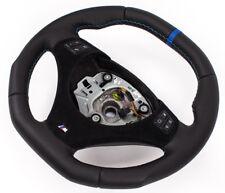 Aplati Volant BMW M-POWER E92,E93 Neuf Cuir Couverture Alcantara Mfu Bleu Anneau