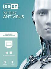 ESET NOD32 Antivirus 1 PC 1 Jahr CD Code, Lizenz, CD-KEY, 2020/2021