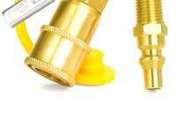GASPRO 1/4 Inch RV Propane Quick Connect Fittings, Natural/LP Gas Propane Dis...