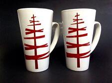 822d7b24865 Starbucks Coffee Mugs Christmas Tree Red White Tall 16oz Holiday Joy Latte  Set