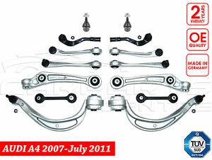 FOR AUDI A4 B8 2.0 TDI FRONT UPPER LOWER SUSPENSION WISHBONE ARMS LINKS KIT SET