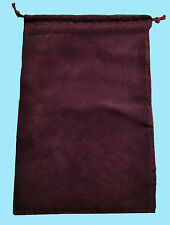 Chessex LARGE BURGUNDY DICE BAG 5x7 SUEDE Drawstring Storage Pouch Velour D&D